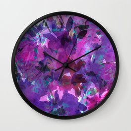 Violet Fields Wall Clock