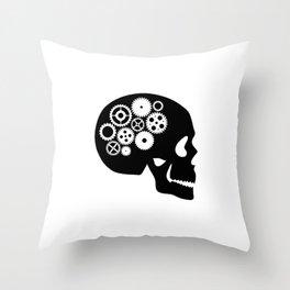 Steampunk - Skull Throw Pillow
