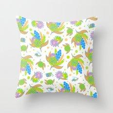 Picnic Pals bouquet in citrus Throw Pillow
