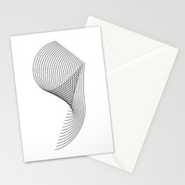 """Linear Collection"" - Minimal Number Nine Print Stationery Cards"