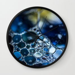 Bubbling Blue Wall Clock