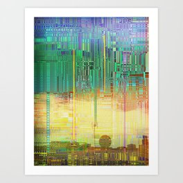 Atlante / CITIES over CITIES Art Print