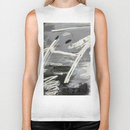 Black and white symphony Biker Tank