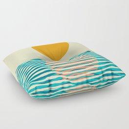Ocean current Floor Pillow