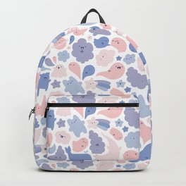 Colors Of The Year Doodle - Rose Quartz & Serenity - Pantone Backpack