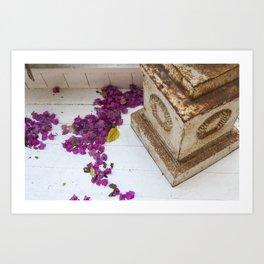 Purple pods Art Print
