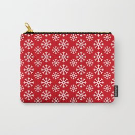 Winter Wonderland Snowflake Christmas Pattern Carry-All Pouch