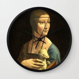 Leonardo da Vinci Lady with an Ermine Wall Clock