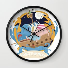 Pirate moon Wall Clock