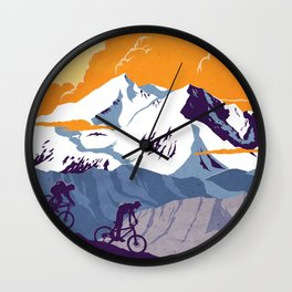 live to ride, ride to live retro cycling poster Wall Clock