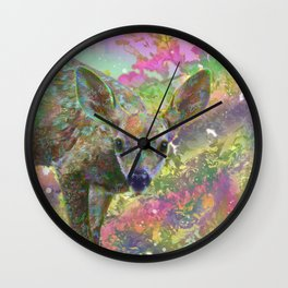 Paint with All the Colors on the Deer Wall Clock