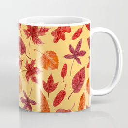 Red autumn leaves watercolor Coffee Mug