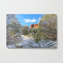 Sedona Winter  by Reay of Light Metal Print