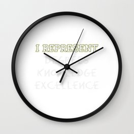 Empowerment Excellence Tshirt Design Empowering Wall Clock
