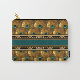 Peacock feathers gold Carry-All Pouch