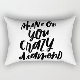 Shine On You Crazy Diamond Rectangular Pillow