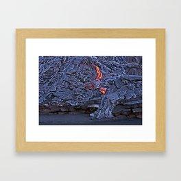 Kilauea Volcano Lava Flow. 2 Framed Art Print