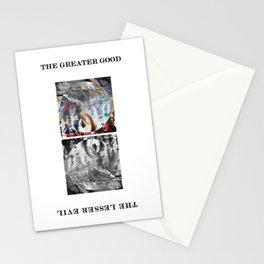 GREATER GOOD LESSER EVIL Stationery Cards