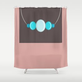 Simple Bling - Mellow Rose Modern Bold Abstract Shower Curtain