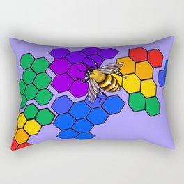 Gay pride honeycomb Rectangular Pillow