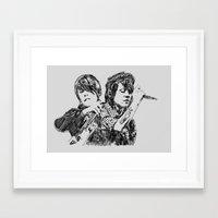 tegan and sara Framed Art Prints featuring Tegan & Sara by sostular
