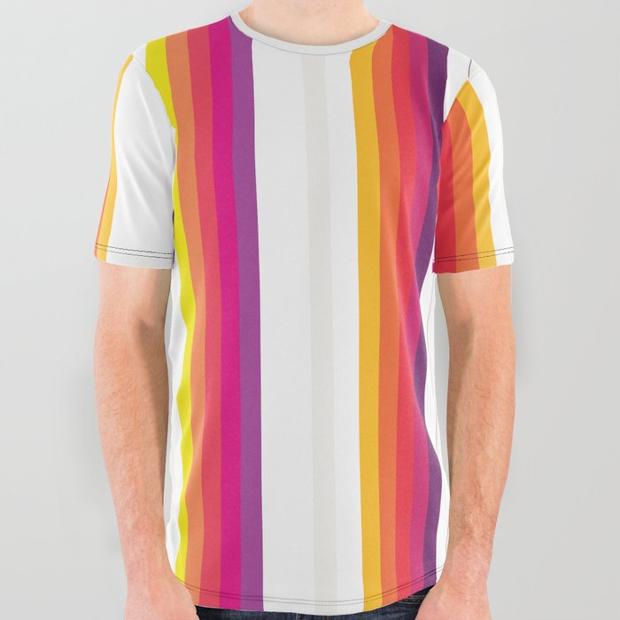 Colorful_Stripes_Barcode_80s_All_Over_Graphic_Tee_by_Bitart__Small