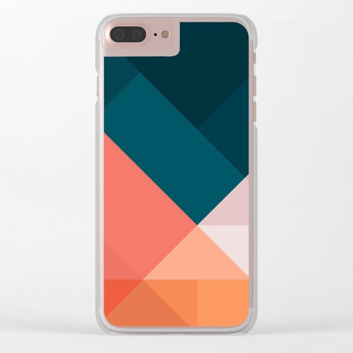 Geometric 1708 Clear iPhone Case