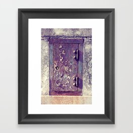 little door Framed Art Print