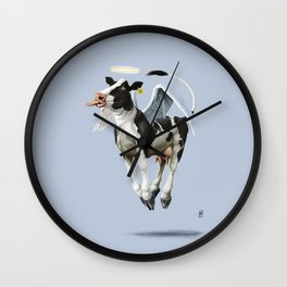 Holy Cow (colour) Wall Clock