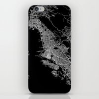 oakland iPhone & iPod Skins featuring oakland map california by Line Line Lines