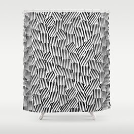 Crosshatched yourself Shower Curtain