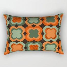 Retro Color Flower Pattern Rectangular Pillow