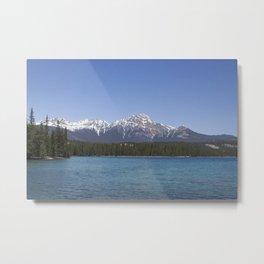 Pyramid Mountain at Lac Beauvert Metal Print
