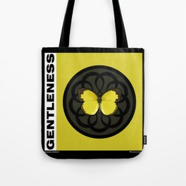 Fruit of the Spirit, Gentleness (Yellow Carbon) Tote Bag