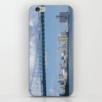 detroit iPhone & iPod Skins featuring Nearing Detroit by Ann Horn
