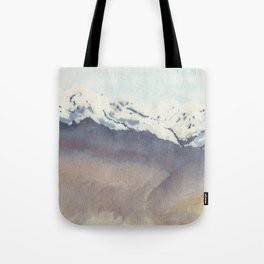 Place Like Home, Watercolor Painting, Landscape, Mountains Tote Bag