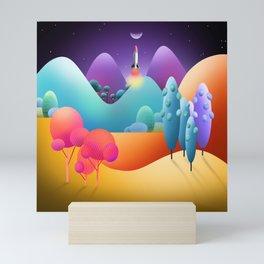 To The Moon Alice Mini Art Print