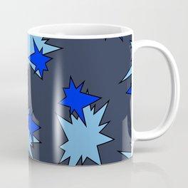 Stars (Navy & Sky on Blue) Coffee Mug