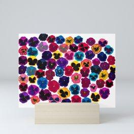 Plentiful pansies Mini Art Print