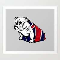 british Art Prints featuring British Bulldog by Pancho the Macho