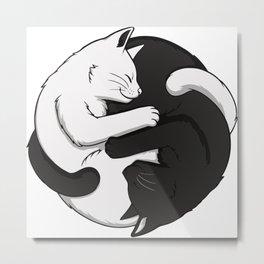 Yin & Yang - Cats Metal Print
