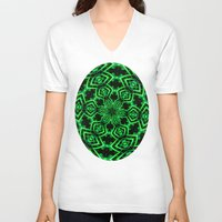 rave V-neck T-shirts featuring Rave Explosive by Julie Maxwell