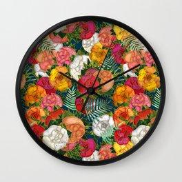 Old school roses Wall Clock