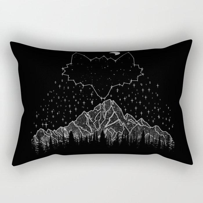 Mountains Fox Rectangular Pillow
