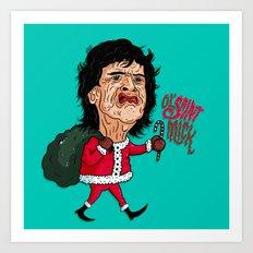 Ol' Saint Mick Art Print