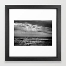 The Black Sea in Black and White Framed Art Print