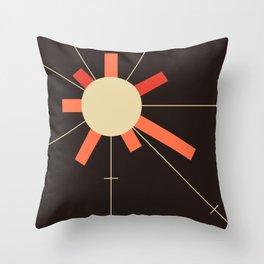 paper sun || charcoal Throw Pillow