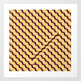 Broken lines Art Print