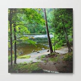 The Lazy River Metal Print