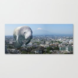 Oh, the HUGE MANATEE! Canvas Print